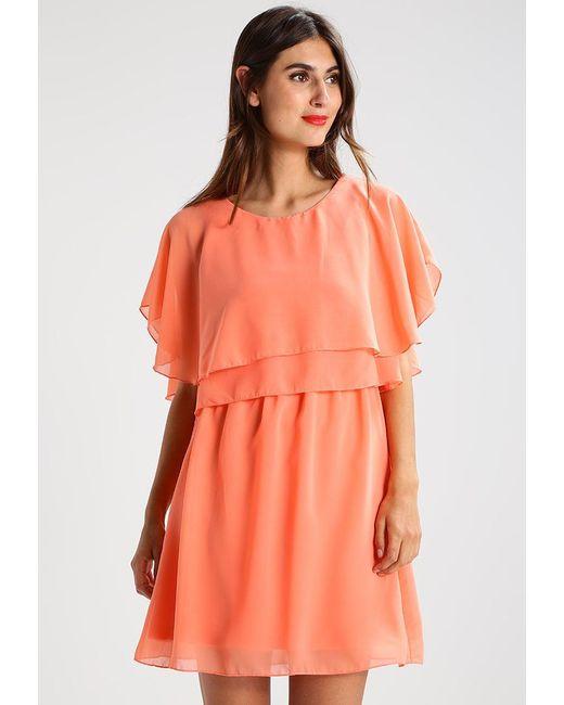 Vila | Orange Vimagile Summer Dress | Lyst