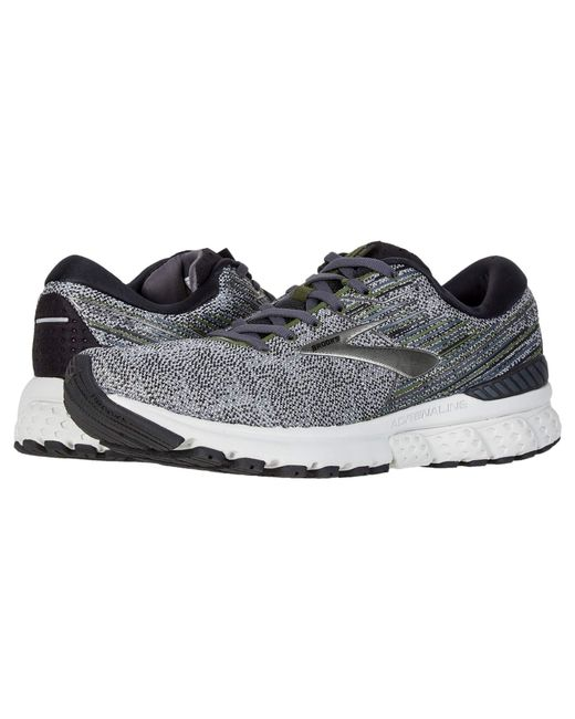 ae9cf9dba8973 Brooks - Gray Adrenaline Gts 19 (white grey navy) Men s Running Shoes ...