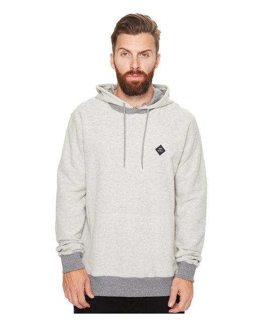 RVCA | Gray Reversal Hood Fleece for Men | Lyst