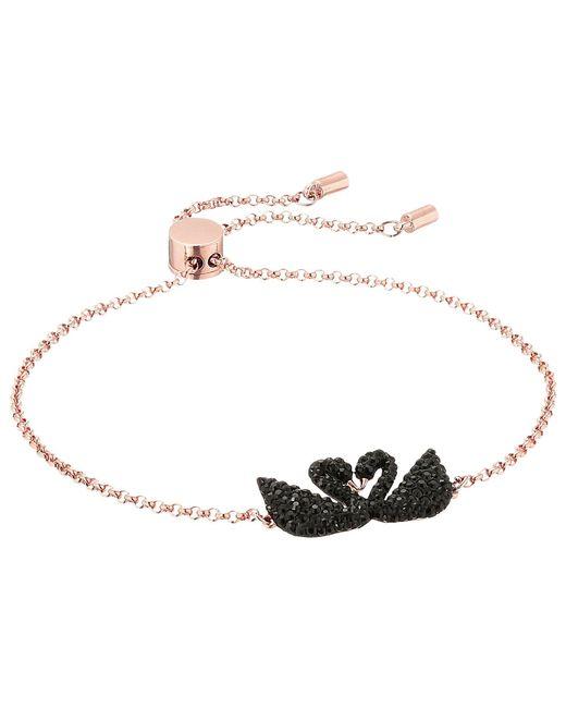 Swarovski - Multicolor Iconic Swan Bracelet (multi/rose Gold/black/clear Crystal) Bracelet - Lyst