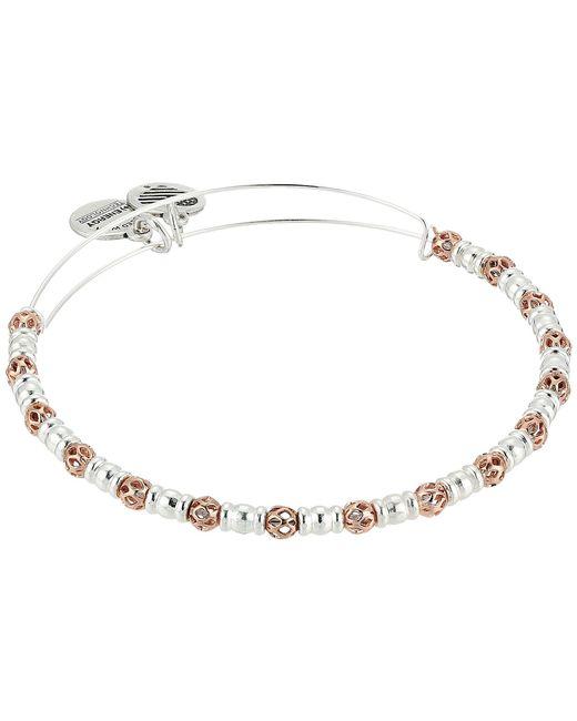 ALEX AND ANI - Multicolor Orbit Bangle (two-tone) Bracelet - Lyst