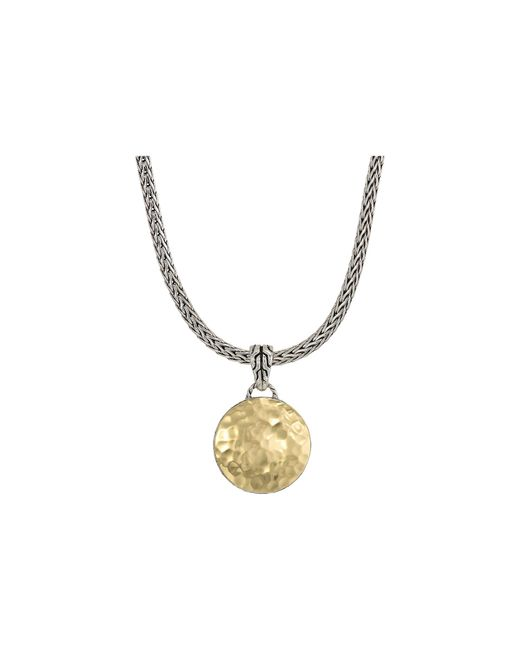 John Hardy - Metallic Dot Hammered Reversible Pendant Necklace (silver/18k Gold) Necklace - Lyst