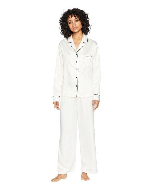 Bluebella - White Claudia Pajama (cream/black) Women's Pajama Sets - Lyst