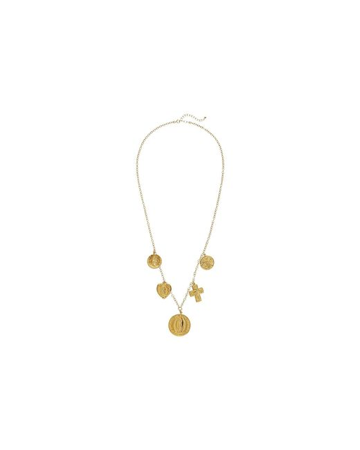 Dogeared - Metallic Multi Charm Saint Necklace (gold Dipped) Necklace - Lyst