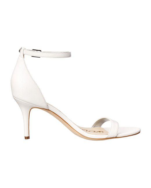 8817ee3ae ... Sam Edelman - White Patti Strappy Sandal Heel (light Gold Leather) High  Heels ...