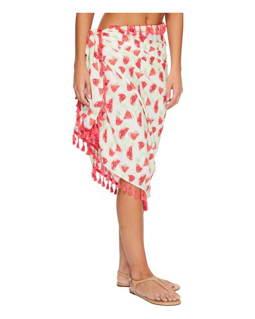 ccbb510c00 ... San Diego Hat Company - Bss1807 Woven Watermelon Print Sarong Cover-up ( pink) ...