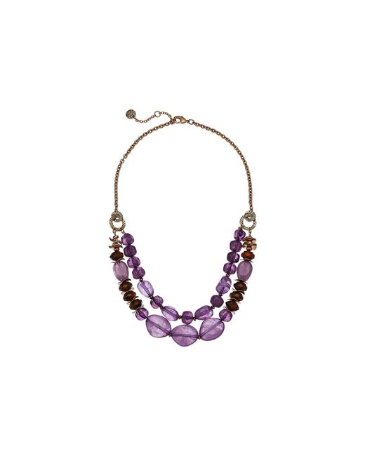 The Sak - Double Row Beaded Necklace 18 (purple) Necklace - Lyst