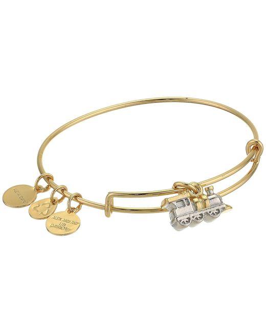 ALEX AND ANI Metallic Charity By Design, Train Bangle Bracelet, Two-tone