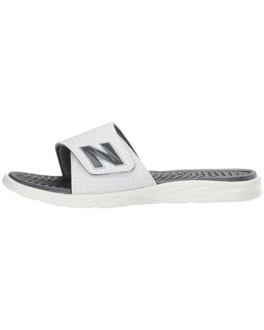 071c37fe208 ... Lyst New Balance - Response Slide (white) Men s Slide Shoes for Men ...