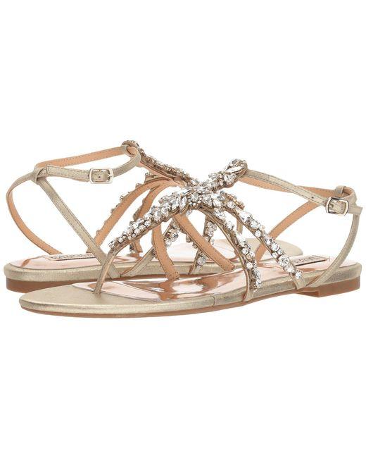 Badgley Mischka Hampden Metallic Suede Ankle Strap Sandals 3wEWMadC