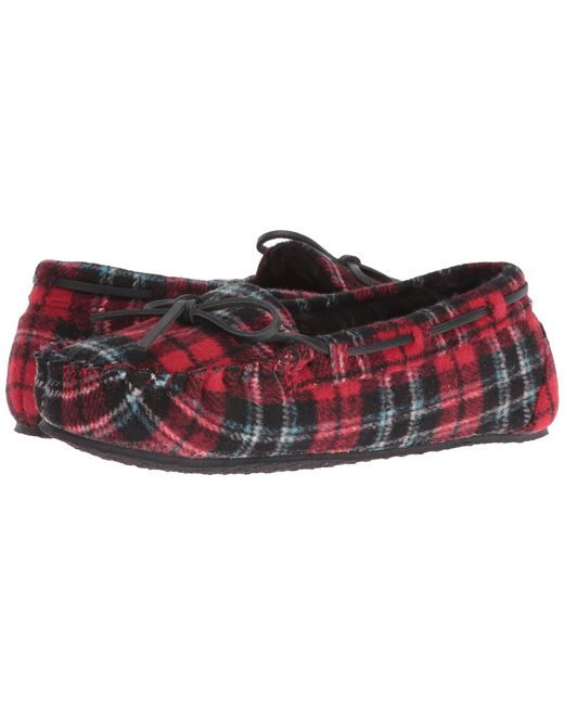 Minnetonka - Multicolor Plaid Cally (red Plaid) Women's Slippers - Lyst