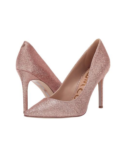 354ece82e34 Sam Edelman - Pink Hazel (rose Gold Mini Glitter) Women s Shoes - Lyst ...