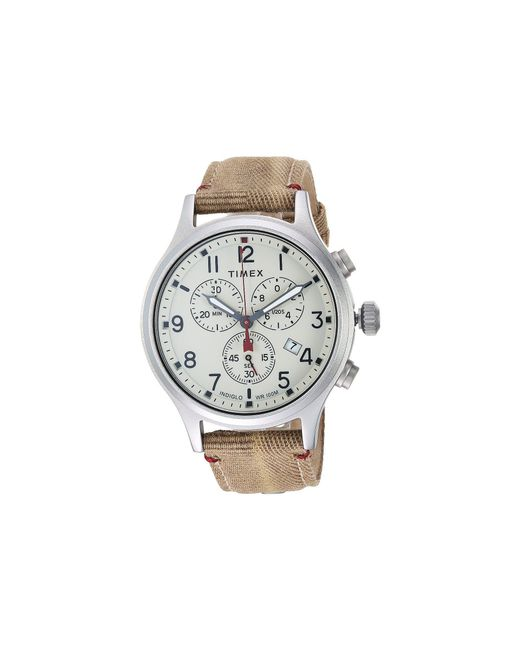 Timex - Natural Allied Chrono Canvas (olive/black) Watches for Men - Lyst