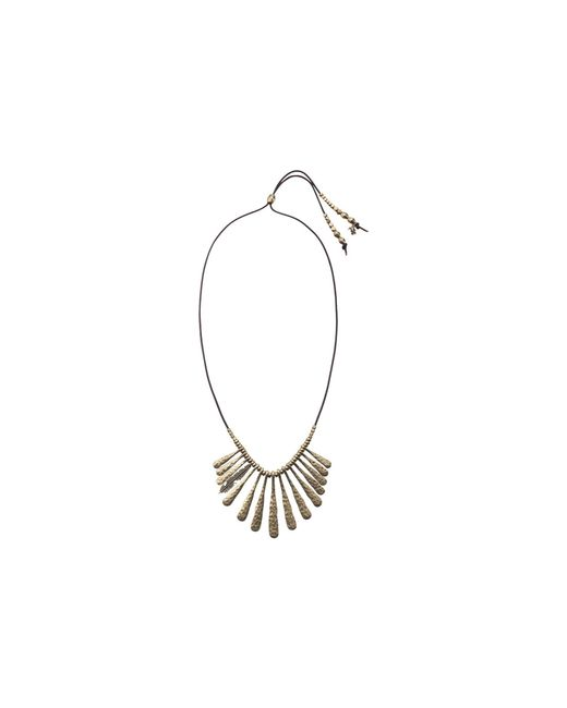 Lucky Brand - Metallic Indian Spice Gold Fan Necklace - Lyst