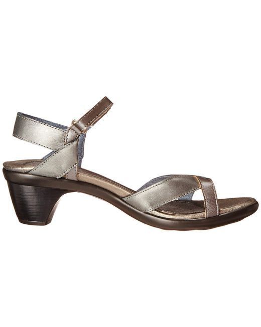 6f05f4345a54 ... Naot - Gray Cheer (jet Black Leather black Patent Leather) Women s  Dress Sandals ...