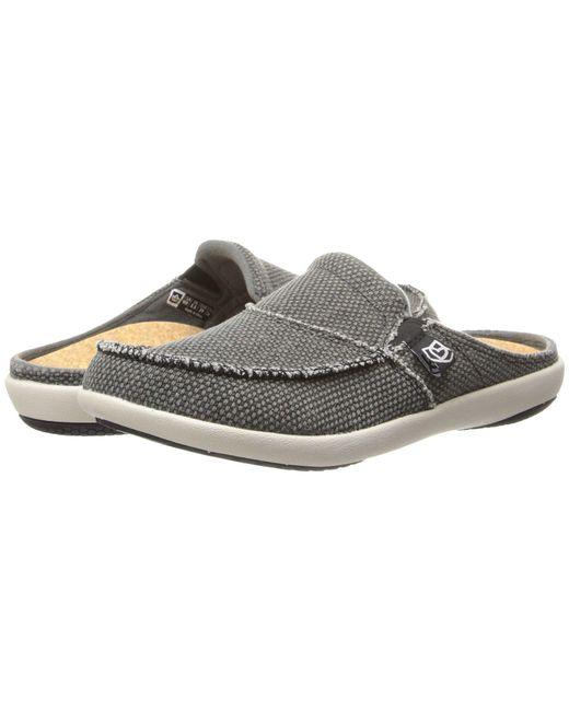 Spenco - Gray Siesta Slide (charcoal Grey) Women's Clog Shoes - Lyst