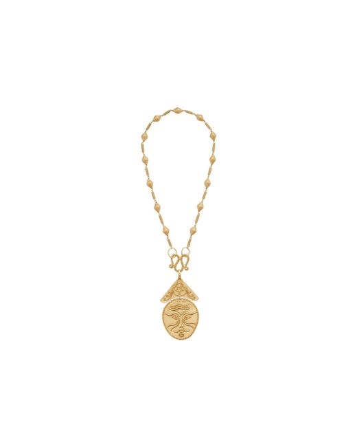 Tory Burch | Multicolor Sculptural Face Statement Necklace | Lyst