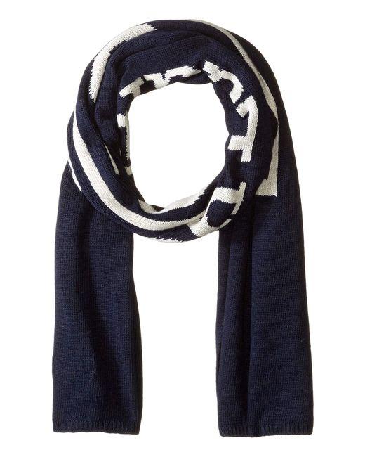 Polo Ralph Lauren - Blue Vintage Polo Label Scarf (navy/cream) Scarves for Men - Lyst