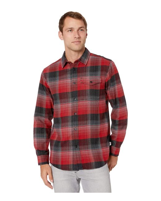 The North Face Red Long Sleeve Stayside Chamois Shirt for men