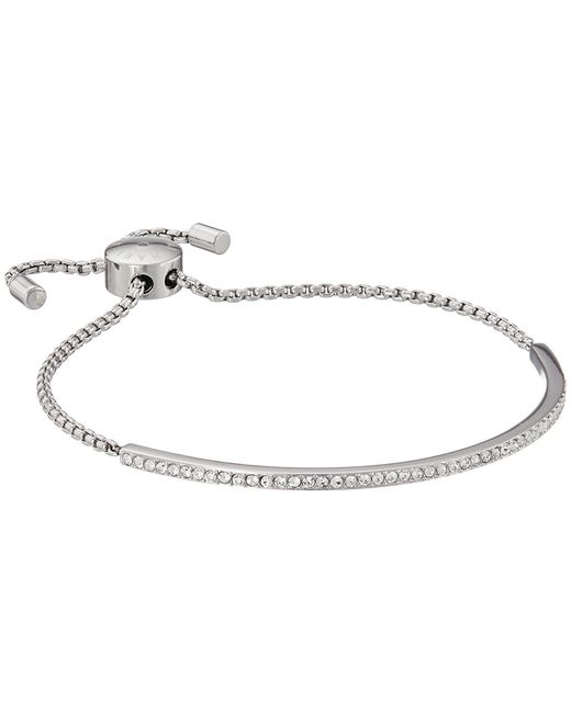 Michael Kors - Metallic Brilliance Pave Bar Slider Bracelet - Lyst