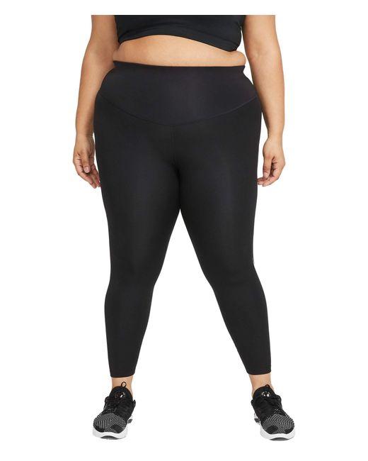 Nike Black Swoosh Run Tights 7/8 Casual Pants
