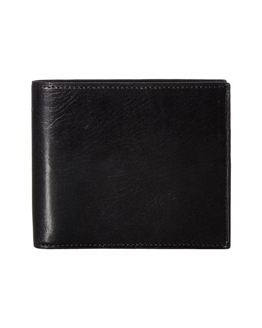Bosca Black Old Leather Collection - Credit Wallet W/ I.d. Passcase for men