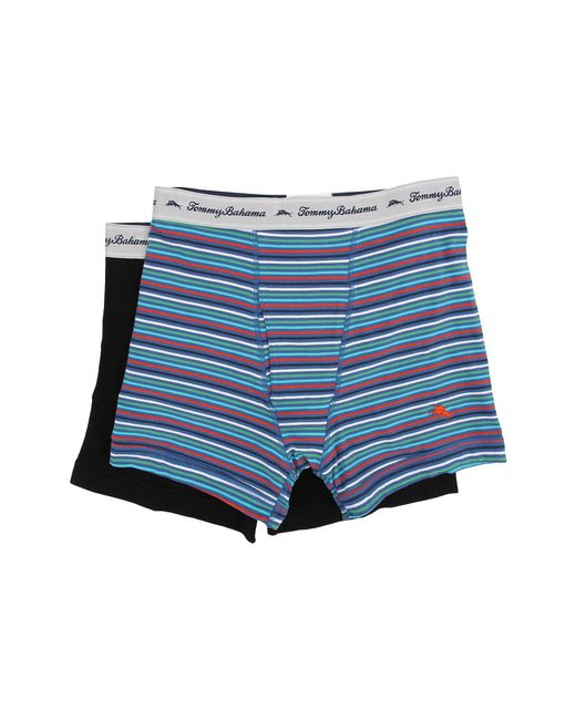 Tommy Bahama | Multicolor Stripe Stretch Cotton Comfort Boxer Briefs 2-pack for Men | Lyst