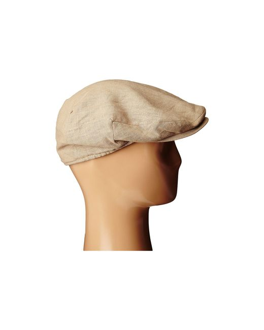 451e67d06b3 ... Stetson - Natural Linen Ivy Cap (khaki) Caps for Men - Lyst ...