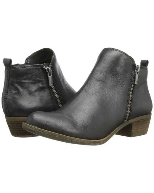 Lucky Brand - Black Basel Leather Ankle Boots - Lyst