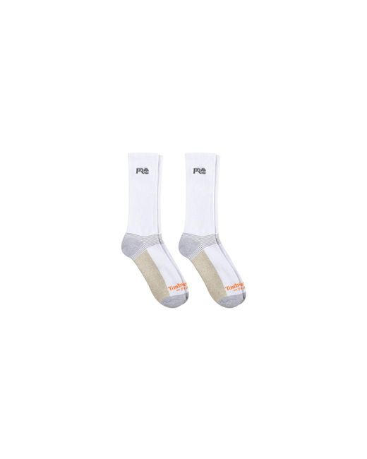 Timberland White 2-pack Crew Socks With Reflective Logo for men