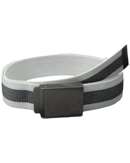 Nike - Rubber Inlay Reversible Web (white) Men's Belts for Men - Lyst