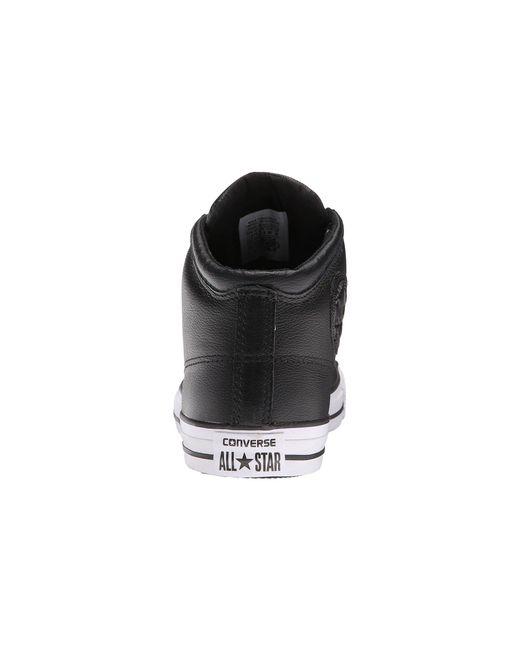f7253aee0fb6 Lyst - Converse Chuck Taylor(r) All Star(r) Hi Street Leather (black ...