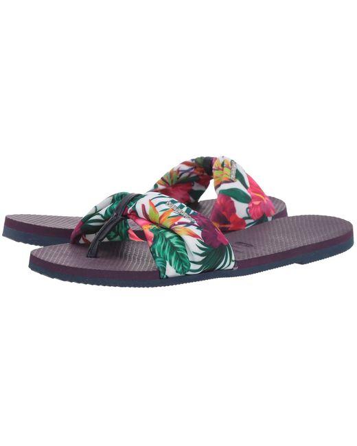 Havaianas Purple You Saint Tropez Sandals