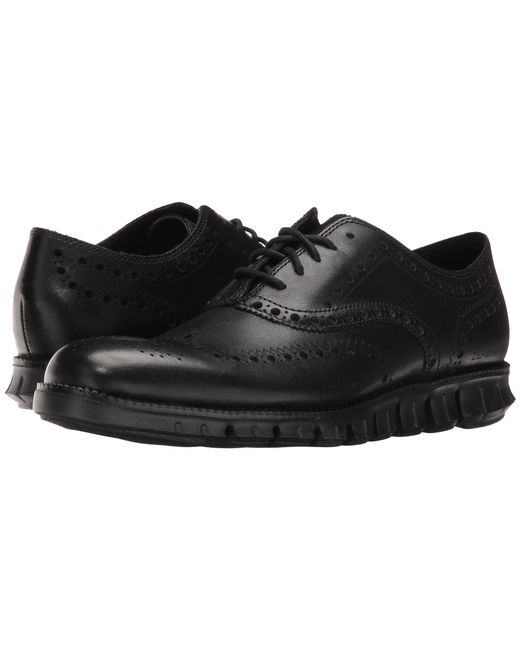 Cole Haan - Black Zerogrand Wing Ox (navy Ink Leather Closed/ironstone) Men's Lace Up Wing Tip Shoes for Men - Lyst