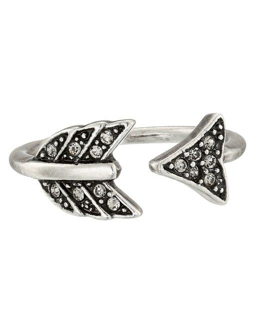 House of Harlow 1960 - Metallic Arrow Affair Ring (silver) Ring - Lyst