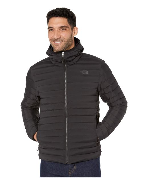 The North Face Black Stretch Down Hoodie for men