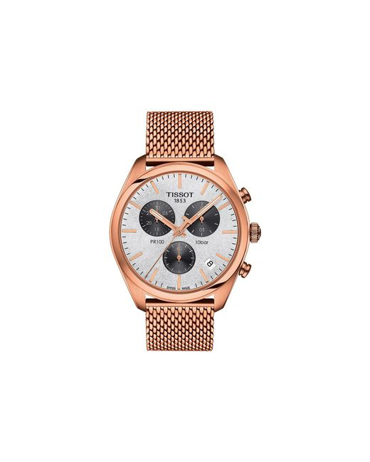 Tissot - Metallic Pr 100 Chronograph - T1014173303101 (silver/rose Gold) Watches - Lyst