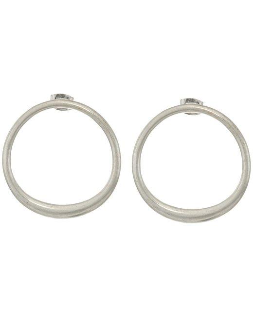 Lucky Brand Metallic Modern Stud Hoop Earrings