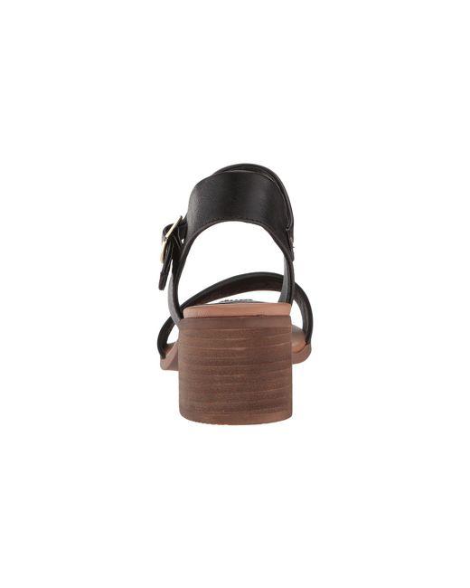 8a3c42671ba ... Steve Madden - Black April Block Heel Sandal (cognac Leather) Women s  Shoes ...
