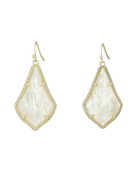 Kendra Scott - Metallic Alex Earring (rhodium/ivory Mother-of-pearl) Earring - Lyst