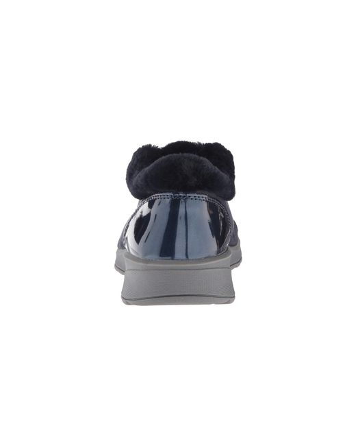 db3391f231 ... Bzees - Blue Golden (black Microfiber black Faux Fur) Women s Slip On  Shoes ...
