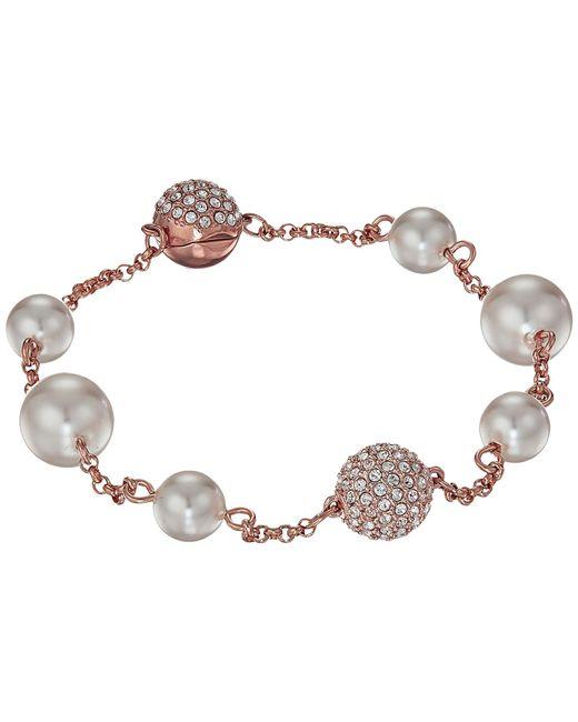 Swarovski - Multicolor Remix Collection Mixed White Crystal Pearl Bracelet (light Multi) Bracelet - Lyst