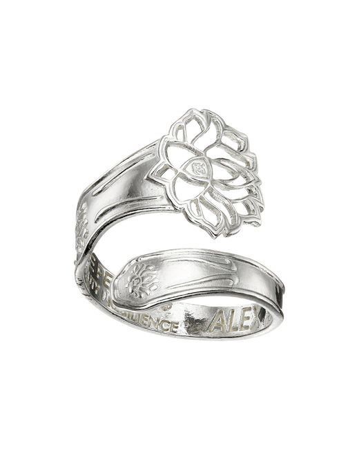 ALEX AND ANI - Metallic Spoon Ring (silver Path Of Life) Ring - Lyst