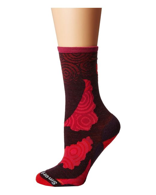 Smartwool - Red Royal Sunset Crew (lochness Heather) Women's Crew Cut Socks Shoes for Men - Lyst