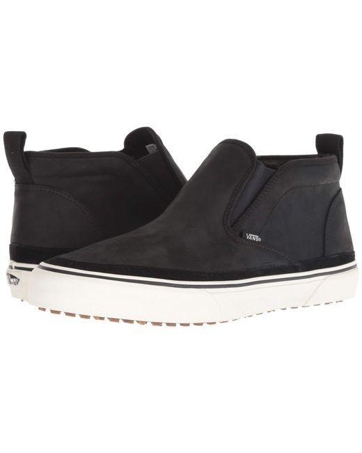 635f8fcb62f Lyst - Vans Mid Slip Sf Mte (black marshmallow) Men s Skate Shoes in ...