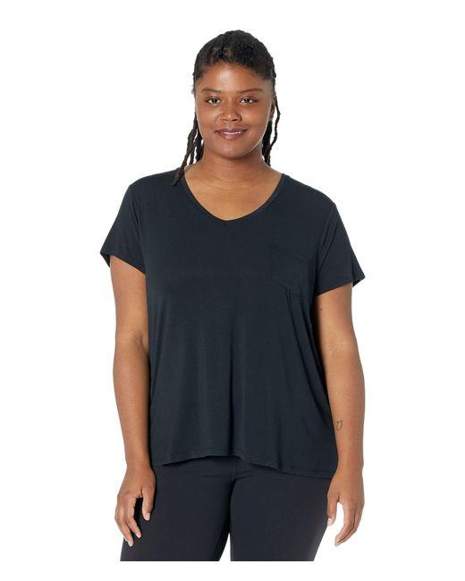 Prana Black Plus Size Foundation Short Sleeve