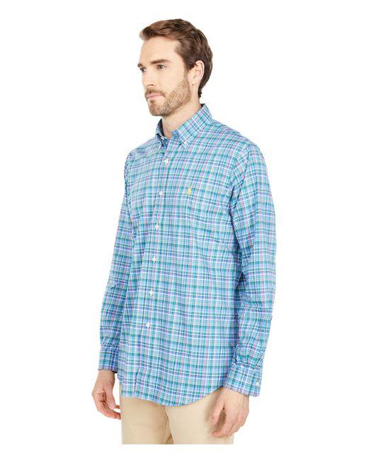 Polo Ralph Lauren Blue Classic Fit Long Sleeve Poplin Shirt for men