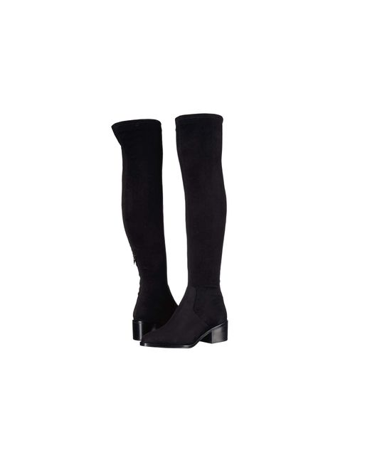 Georgette Over The Knee Boot in Black