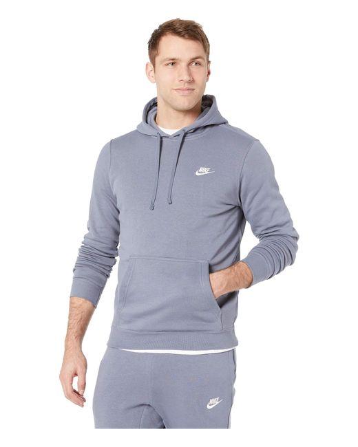 55c1737b839 Nike - Blue Club Fleece Pullover Hoodie for Men - Lyst ...