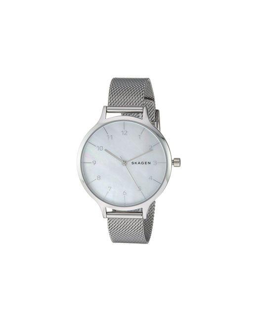 Skagen - Metallic Anita Stainless Steel Mesh Bracelet Watch 36mm - Lyst
